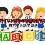 バイリンガルの子供を育てる自宅英会話学習法