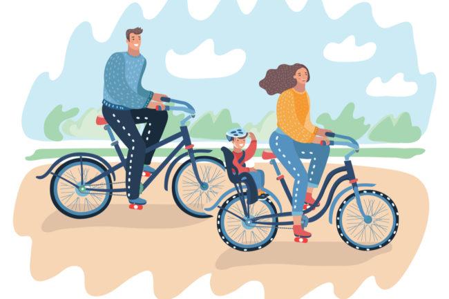 抱っこ紐で自転車に乗るのは違反?OK?【自転車のルール】