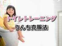 トイレトレーニングのうんち克服法【進め方のコツを教えます】