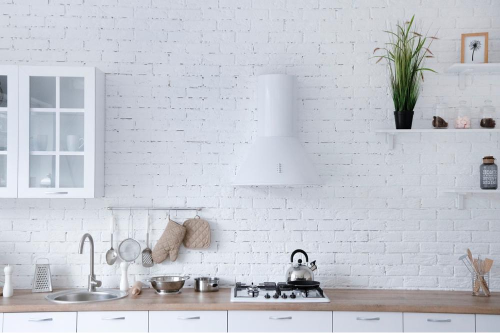 キッチン室内の壁材